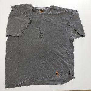 Pirana Joe T Shirt Men Graphic Fish and Ski Gray